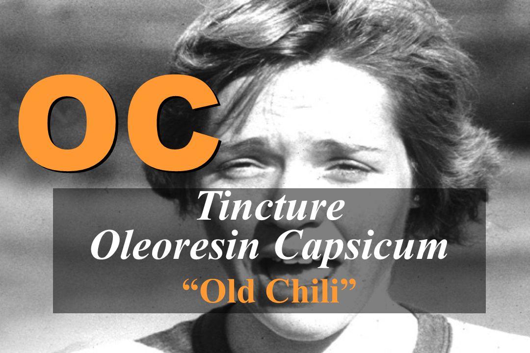 """Tincture Oleoresin Capsicum """"Old Chili"""" OC"""