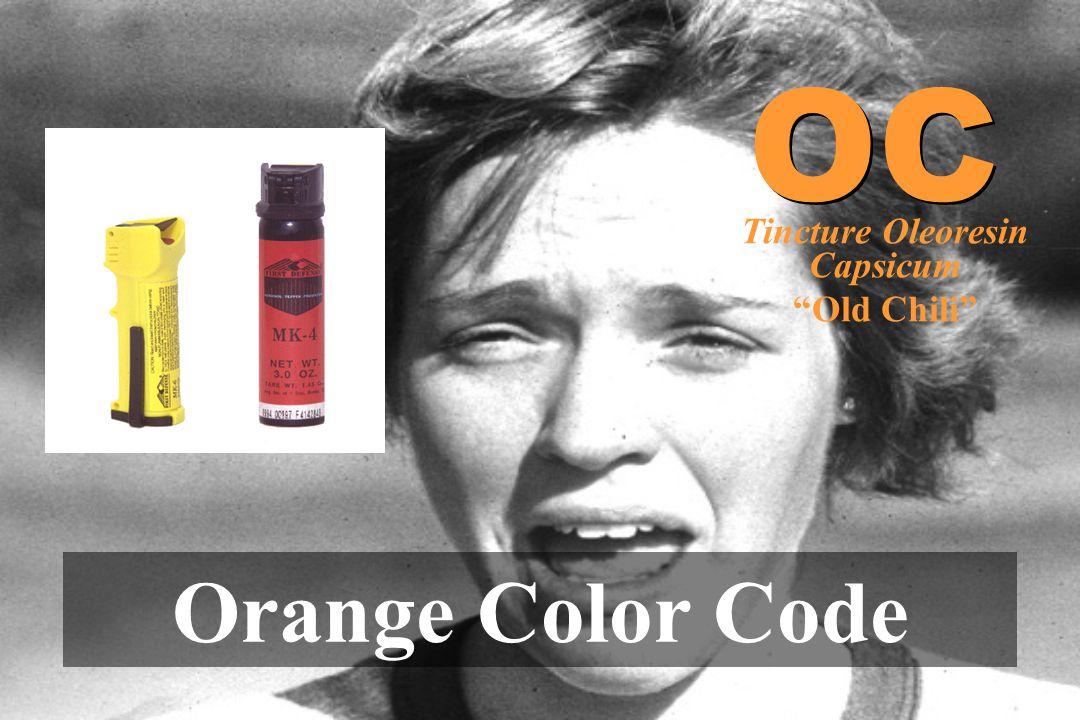 """Orange Color Code OC Tincture Oleoresin Capsicum """"Old Chili"""""""
