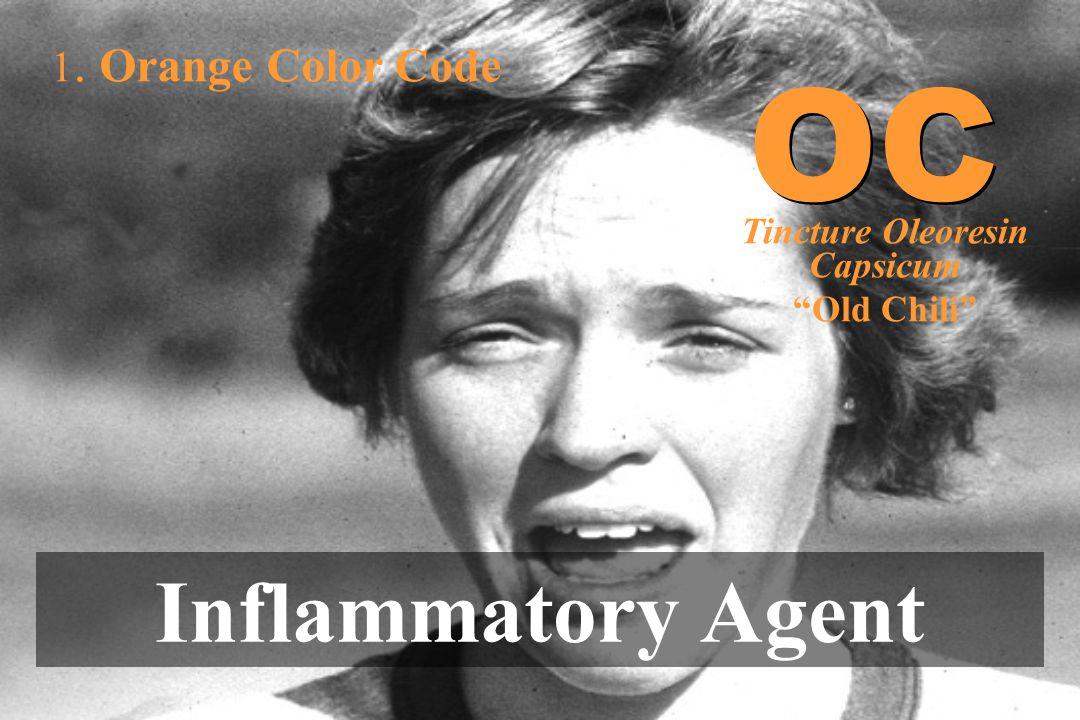"""1. Orange Color Code Inflammatory Agent OC Tincture Oleoresin Capsicum """"Old Chili"""""""