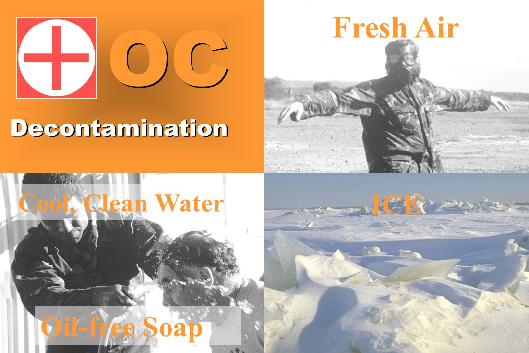 Cool, Clean Water Fresh Air ICE Oil-free Soap Decontamination OC