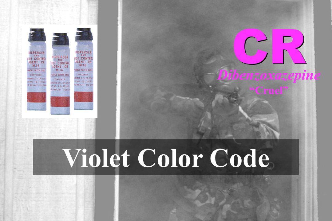 "Dibenzoxazepine ""Cruel"" Violet Color Code"