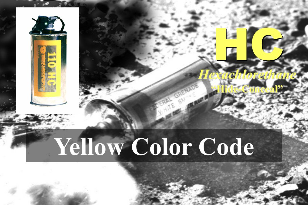 HC Hexachlorethane Hide-Conceal Yellow Color Code