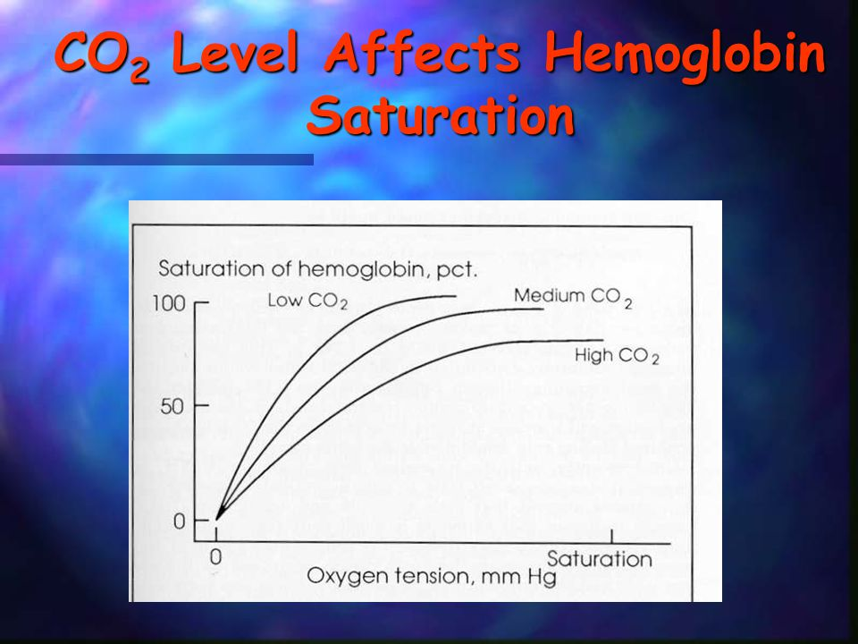 CO 2 Level Affects Hemoglobin Saturation