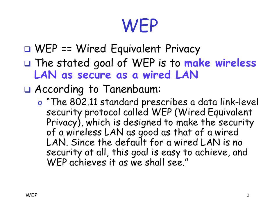 WEP 1 WEP