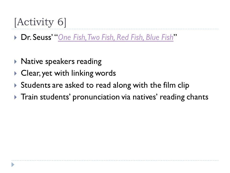 [Activity 6]  Dr.