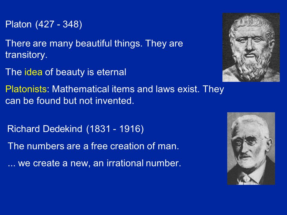 Bernard Bolzano (1781 - 1848) Czech Theologian, Philosopher and Mathematician Creator of the notion: Menge (set) Die Paradoxien des Unendlichen (1851) A bijective mapping y = 2x Does not prove the same number of points.