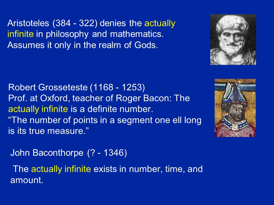 The whole is always larger than ist proper part.There are different degrees of infinity.