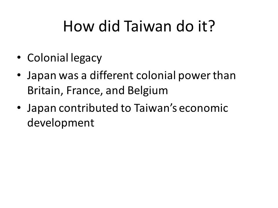 How did Taiwan do it.