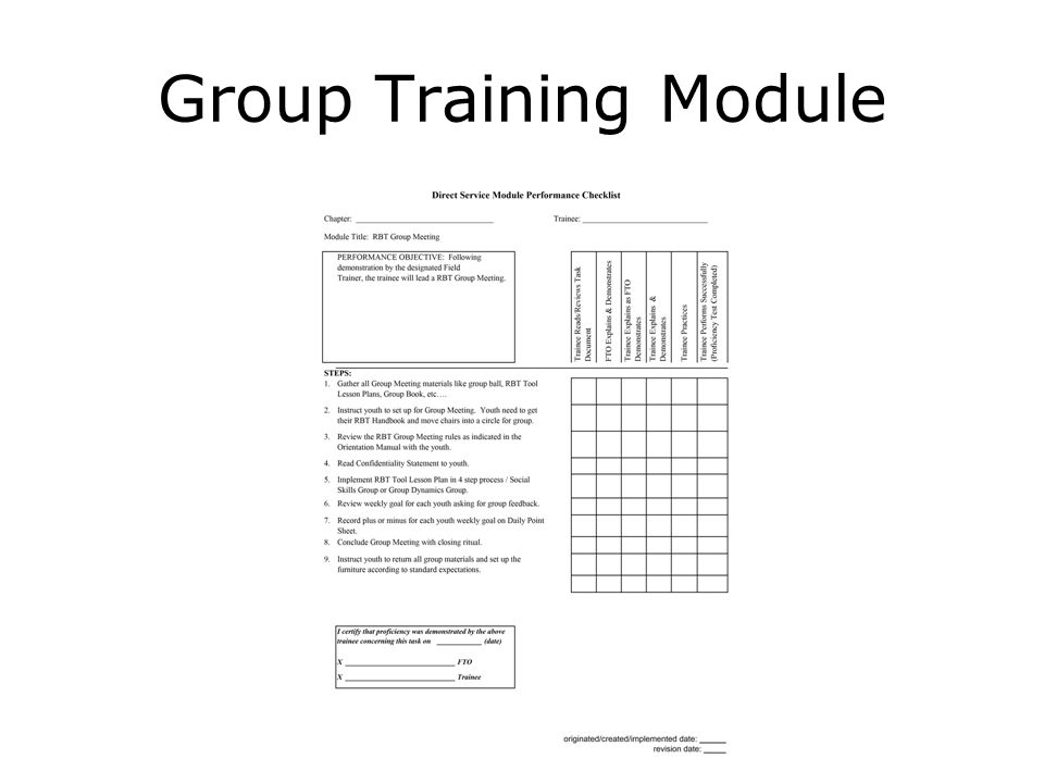 Group Training Module