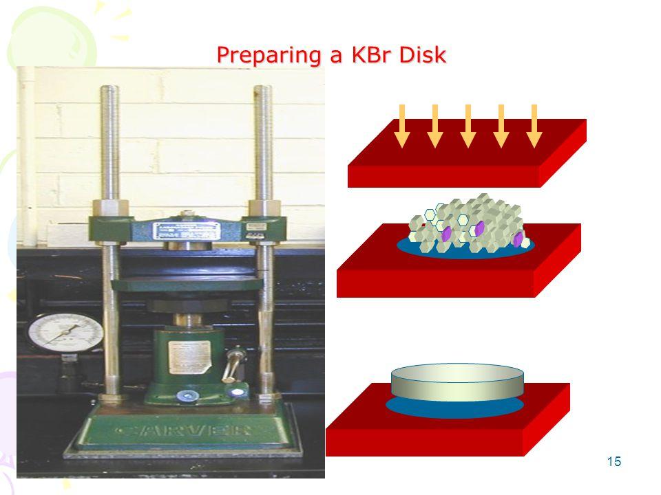 Preparing a KBr Disk 15
