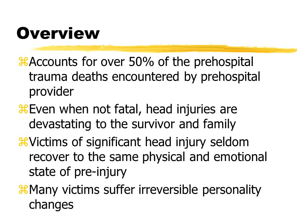 Spinal Trauma zMost common cause is spine being forced beyond its normal range of motion zc-spine is most vulnerable due to weight of head z27-33% of injuries occur in c1-c2 area zShould have 180 degrees rotation 60 degrees flexion and 70 extension z Compression - direct force, head to windshield, shallow dive, blow to top of head z Flexion, hyperextension, hyper- rotation ymay result in fx, ligamentous injury, muscle injury or subluxation yMay cause cord laceration/contusion