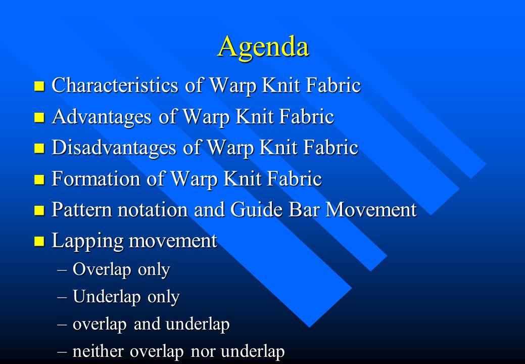 Warp Knit Basic Structure Jimmy K.C. Lam The Hong Kong Polytechnic University