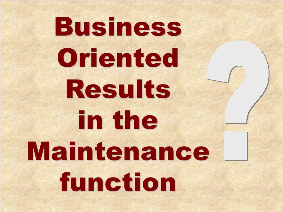 Maintenance Management Leading Indicators ©2006 SAMI Europe AB–Proprietary and Confidential SAMI