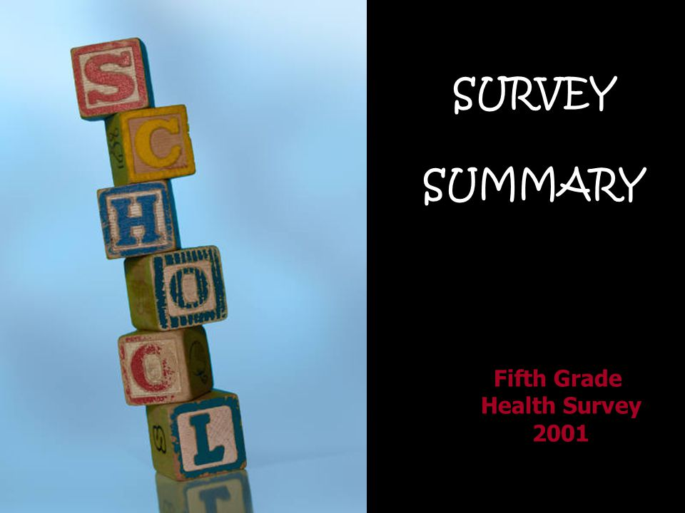 SURVEY SUMMARY Fifth Grade Health Survey 2001