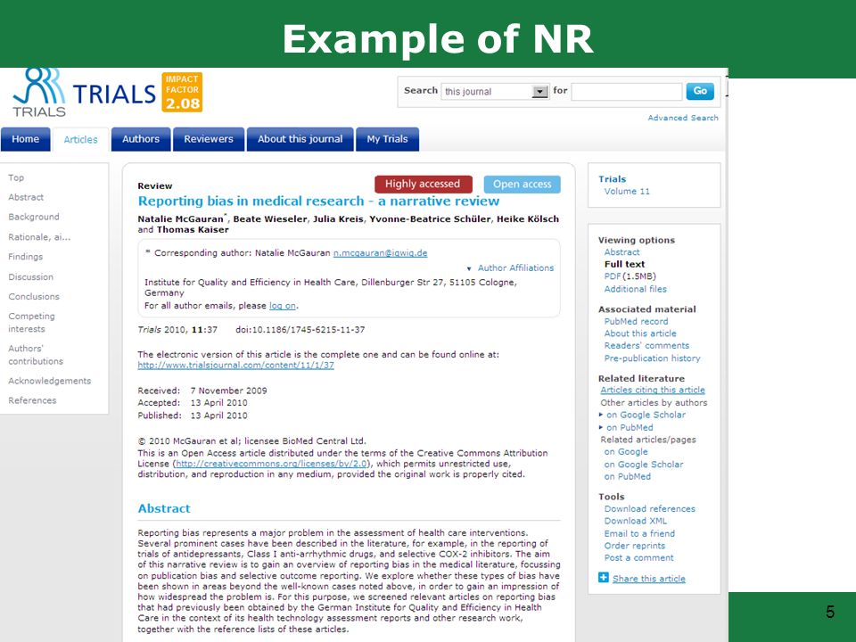 5 Example of NR