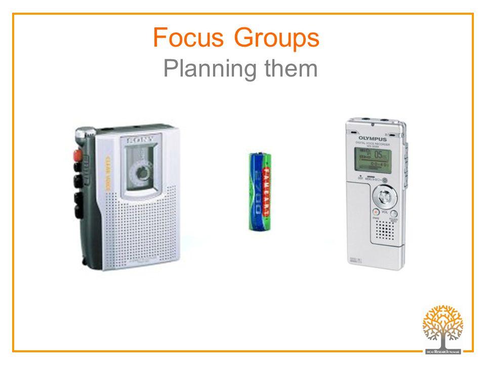 Focus Groups Planning them insert