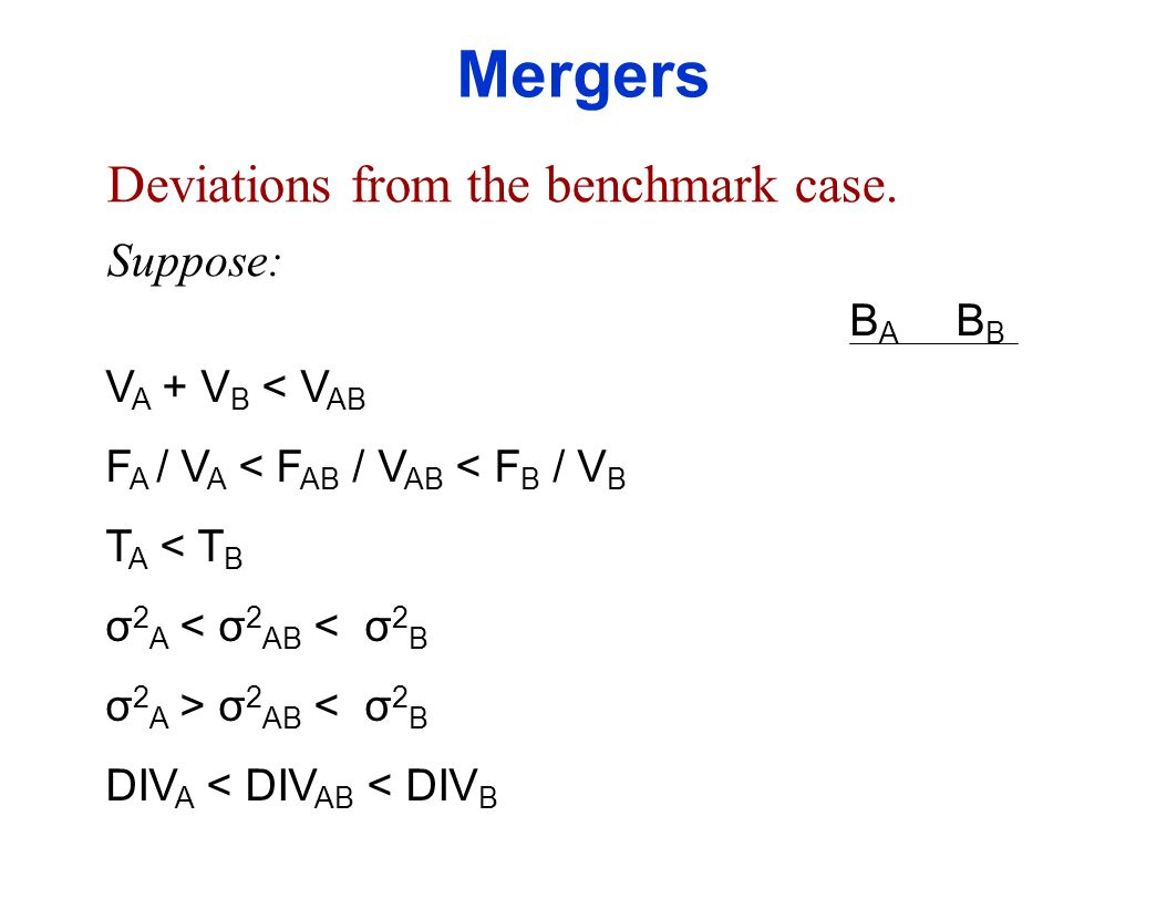 Deviations from the benchmark case.