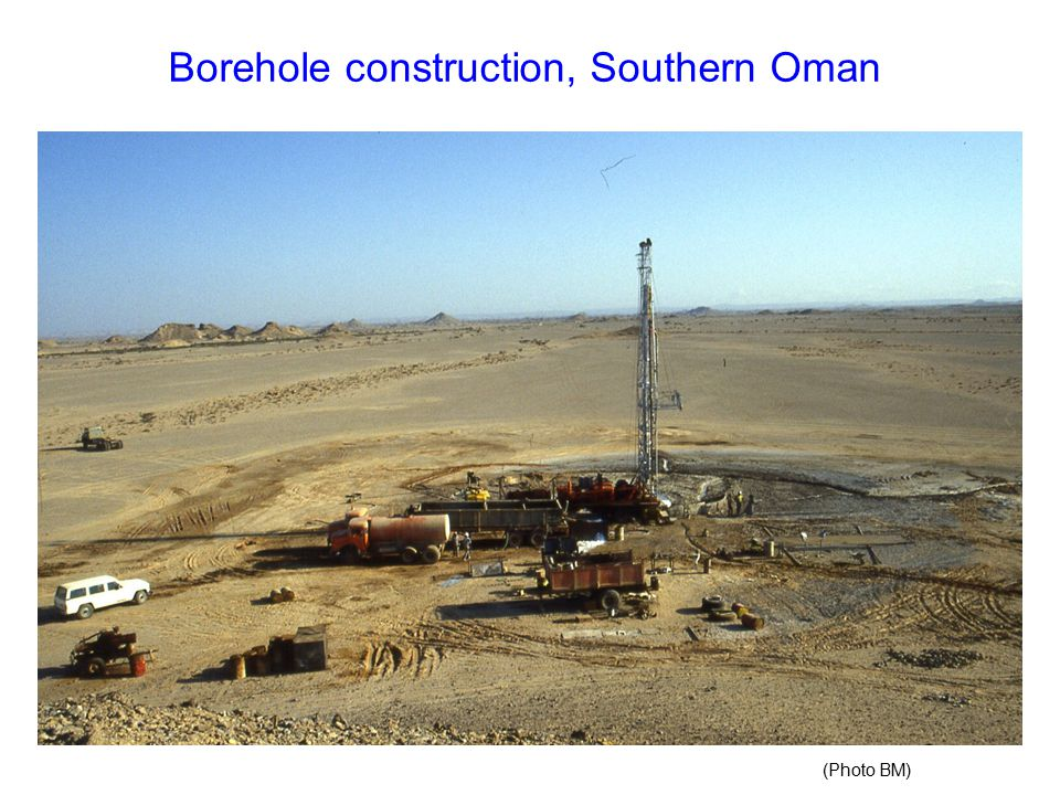 Borehole construction, Southern Oman (Photo BM)