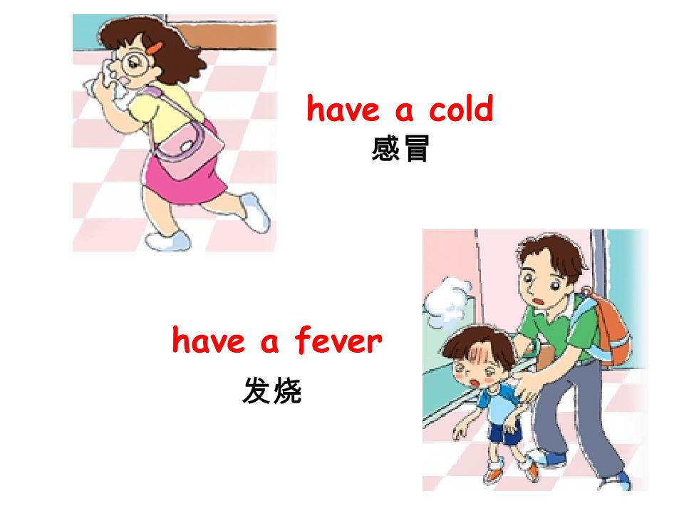 have a cold have a fever 感冒 发烧