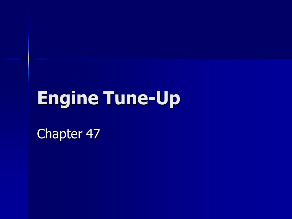 Safety Rules Engine Tune-Up - Safety Rules OBD II automobiles require the battery be disconnected when performing vehicle service and maintenance.