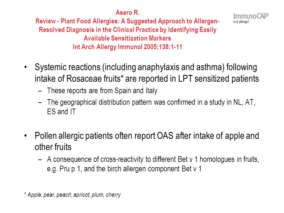 Asero R. Review - Plant Food Allergies: A Suggested Approach to Allergen- Resolved Diagnosis in the Clinical Practice by Identifying Easily Available