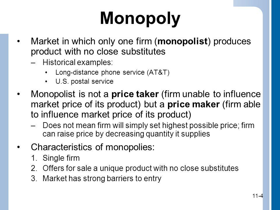 11-5 Monopoly (cont.) 11-5