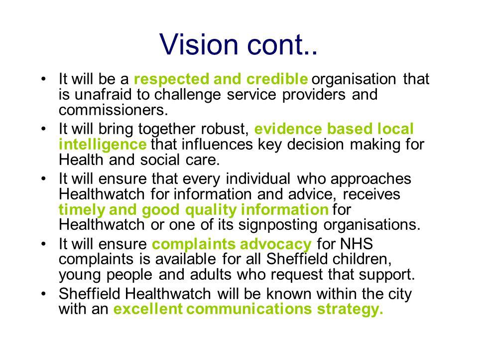 Vision cont..