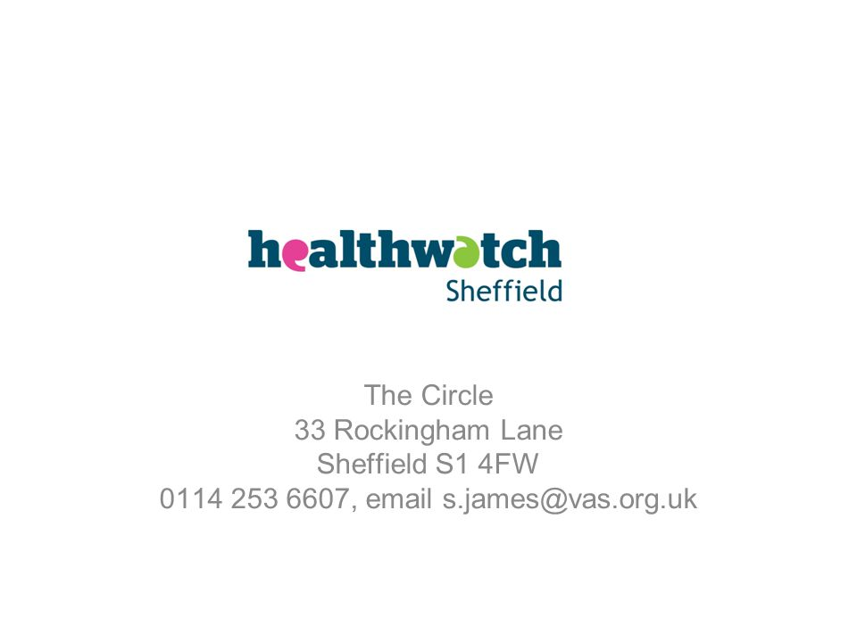 The Circle 33 Rockingham Lane Sheffield S1 4FW 0114 253 6607, email s.james@vas.org.uk