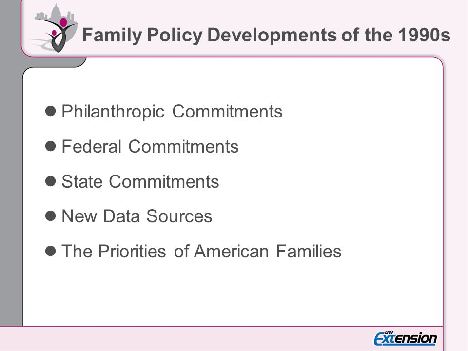The Importance of Families 91% of Americans reported that loving family relationships are extremely important to them.