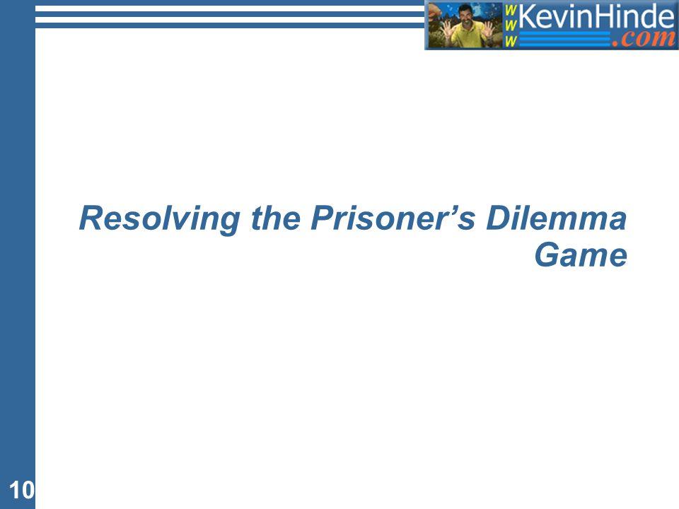 10 Resolving the Prisoner's Dilemma Game
