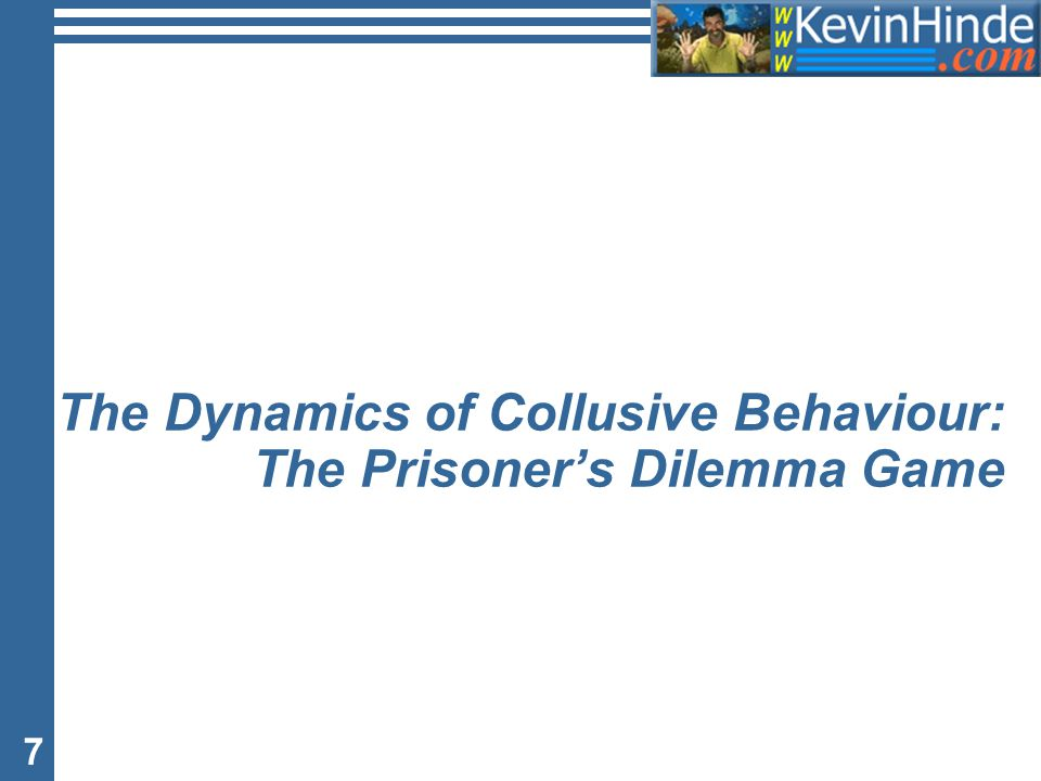 7 The Dynamics of Collusive Behaviour: The Prisoner's Dilemma Game