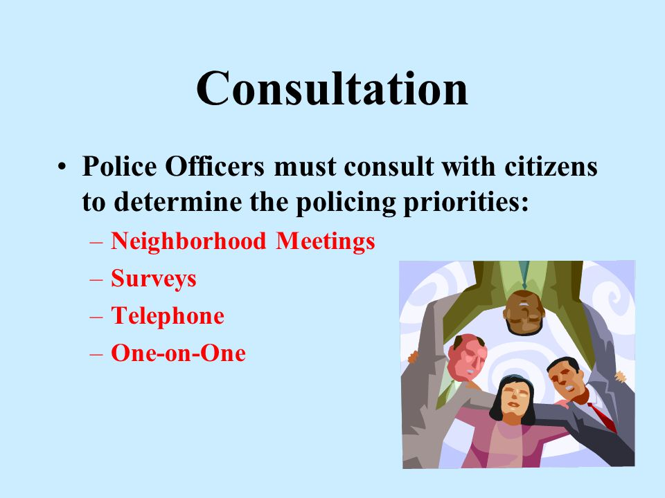 3-Word Definition for Community Oriented Policing Consultation Adaptation Mobilization