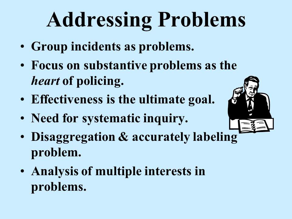 Problem Prioritization Level of Community Concern Broken Window? Position of Jeopardy