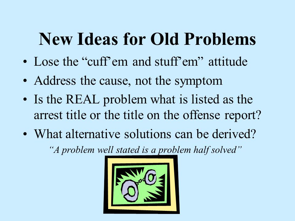 We've Got to Solve Problems With New Thinking ****************** Exercise: