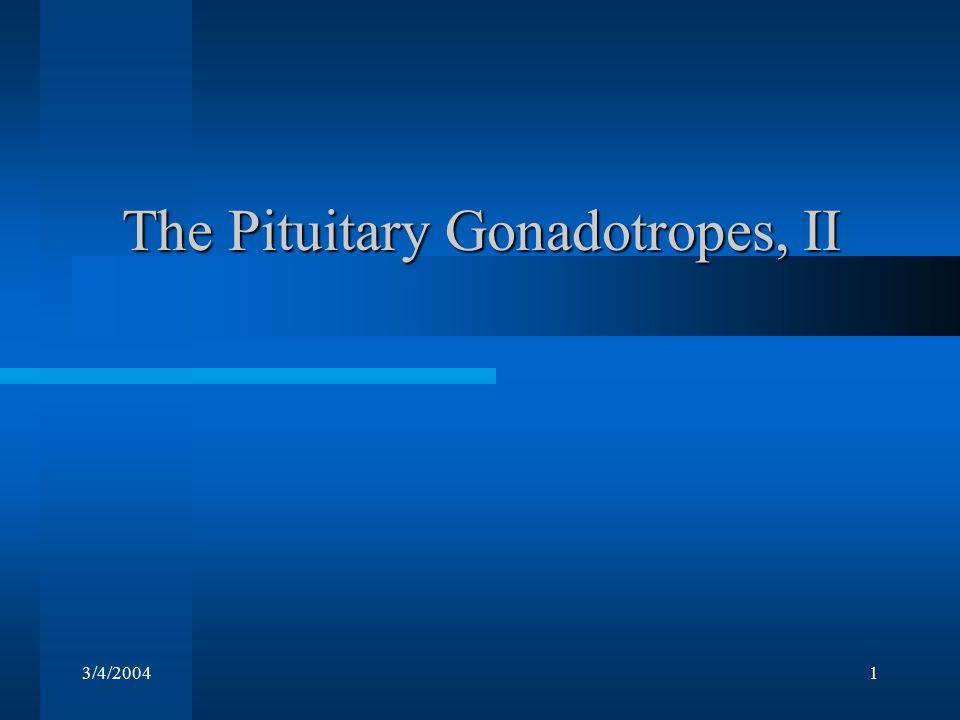 3/4/20041 The Pituitary Gonadotropes, II