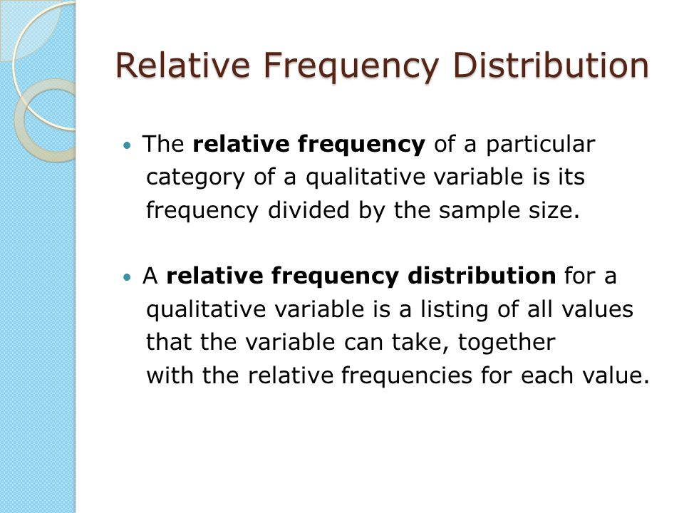 Example 2.2 - Relative frequency of career preferences Create a relative frequency distribution for the variable career using the Information in Table 2.2.