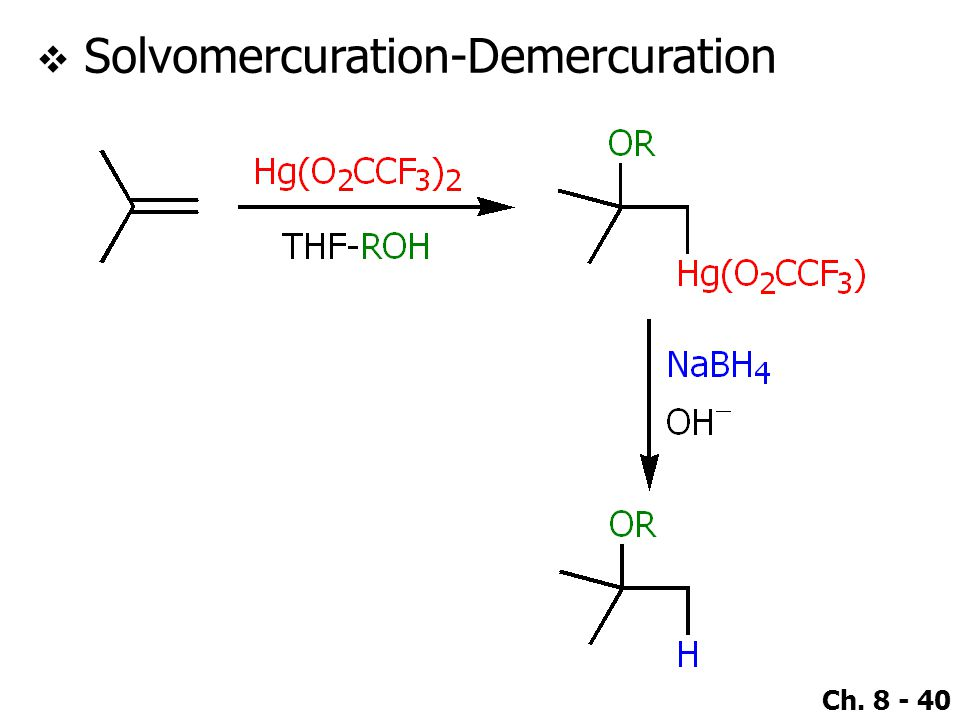 Ch. 8 - 40  Solvomercuration-Demercuration