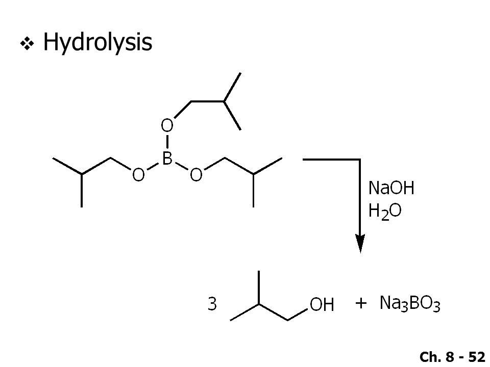 Ch. 8 - 52  Hydrolysis