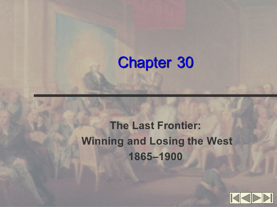 The Last Frontier American Frontier 1865: clear frontier line 1890: no more frontier in U.S.