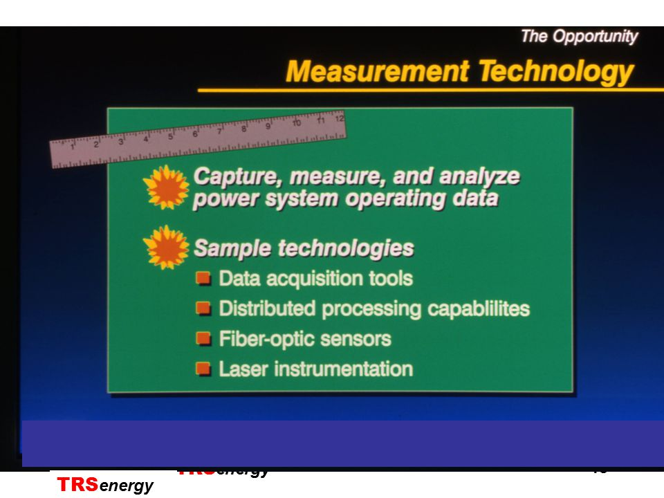 TRSenergyTRS energy 19 Synchronized Phasor Measurement Real time Monitoring and Alarming of regional angle differences against predefined thresholds Computer Screen