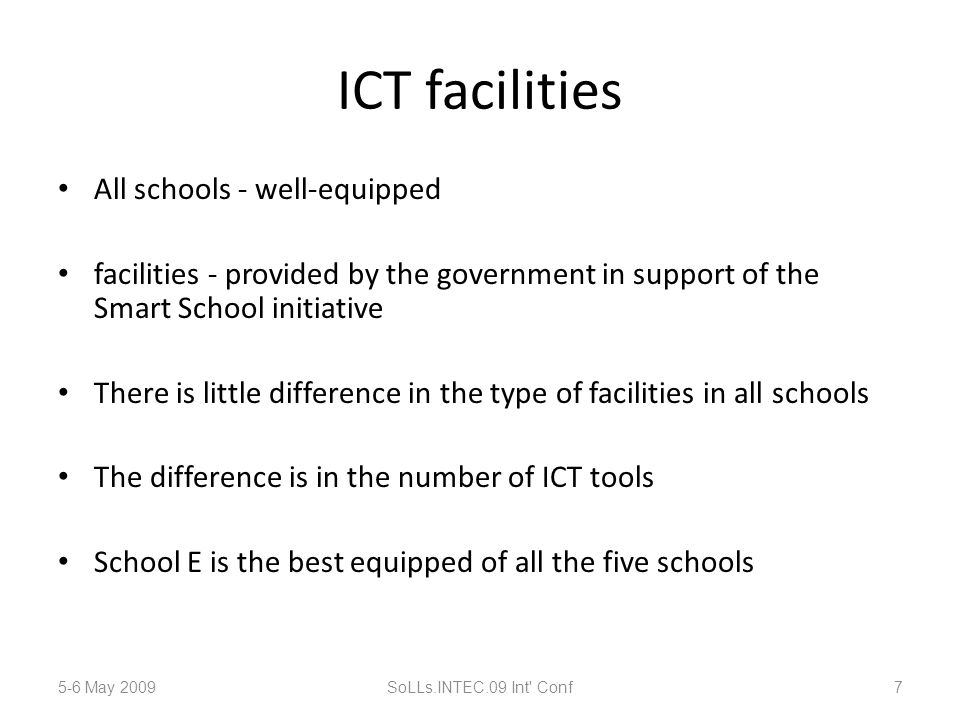 6 (b) Training needed as Smart School teachers 5-6 May 2009SoLLs.INTEC.09 Int Conf28