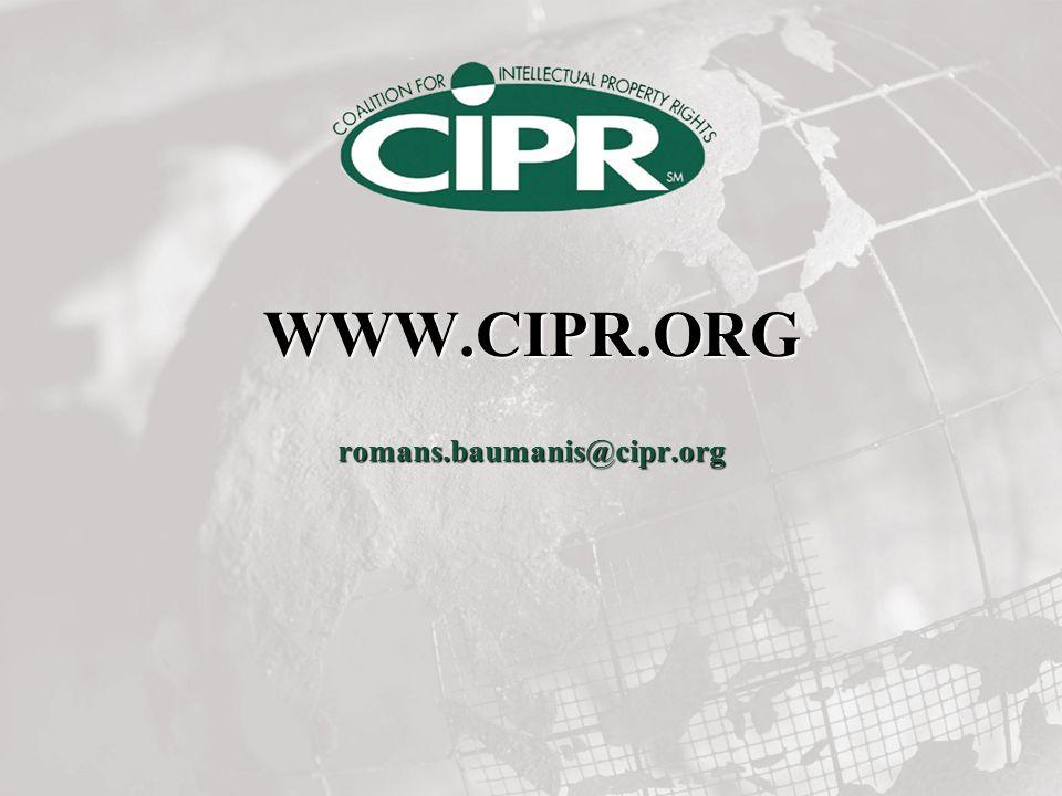 WWW.CIPR.ORG romans.baumanis@cipr.org
