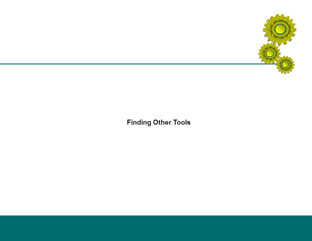 Finding Other Tools