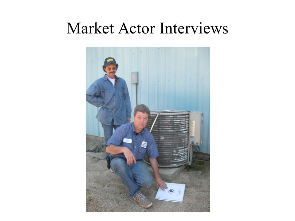 Market Actor Interviews