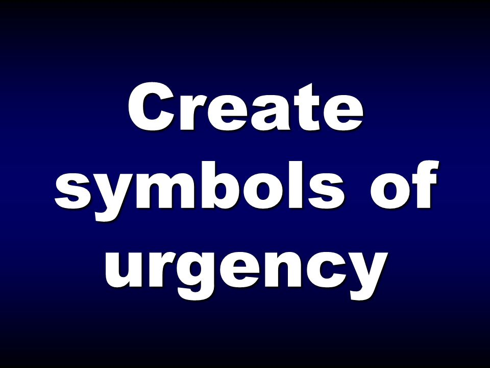 Create symbols of urgency