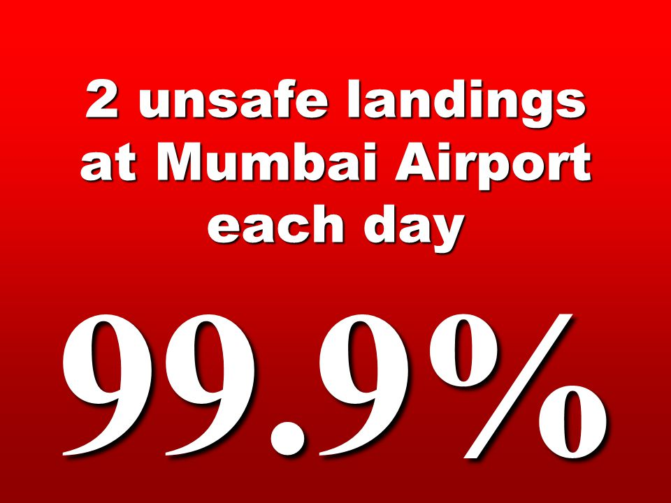 2 unsafe landings at Mumbai Airport each day 99.9%