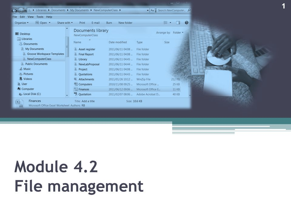 Module 4.2 File management 1