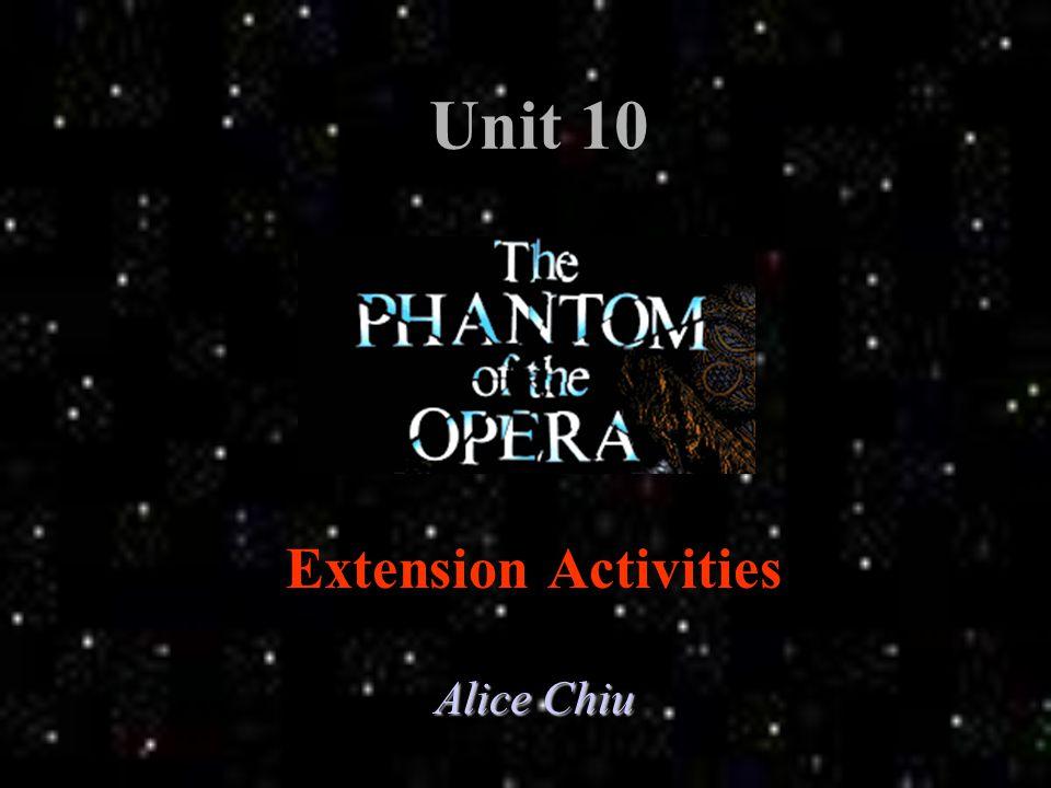 Unit 10 Extension Activities Alice Chiu