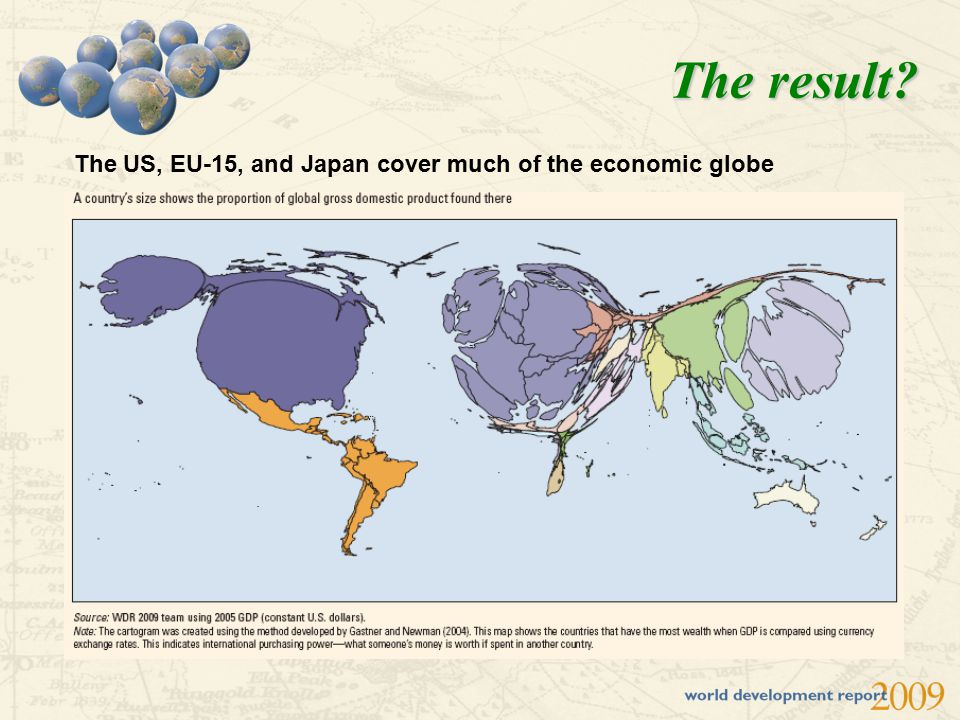 The result? The US, EU-15, and Japan cover much of the economic globe