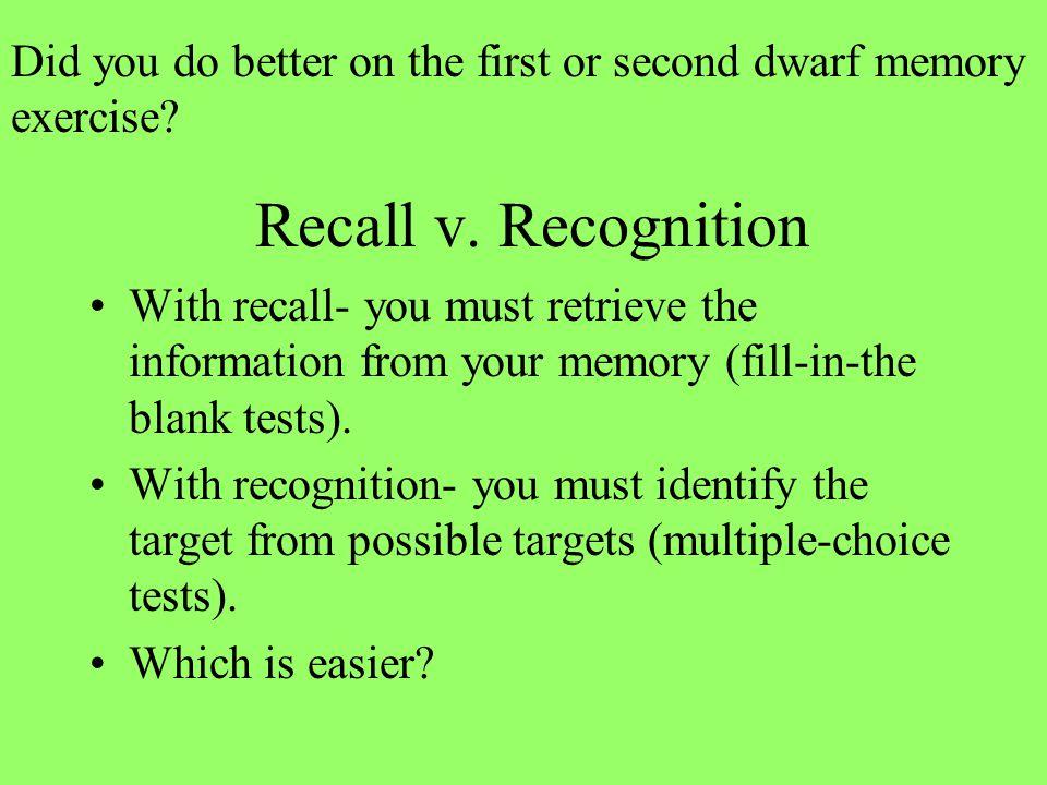 Recall v.